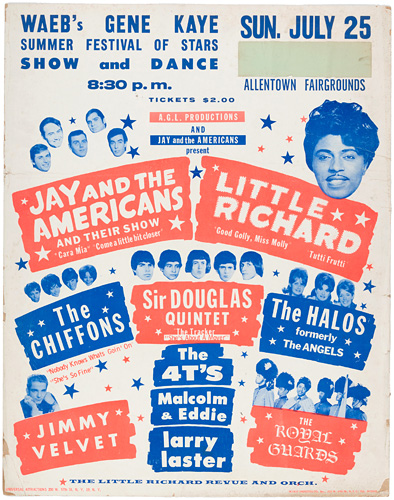 Little Richard Allentown 1965 poster